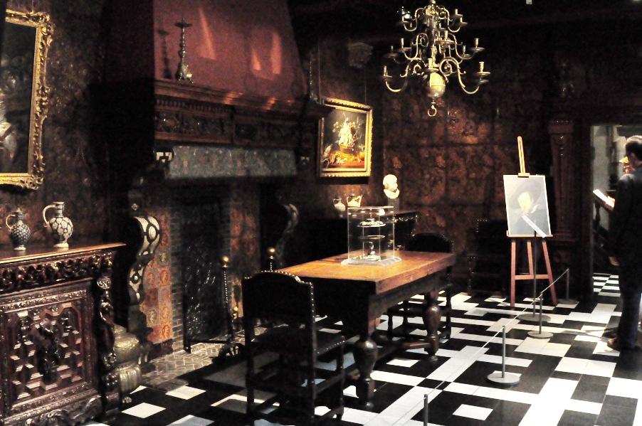 Rubenshuis w Antwerpii - sala z autoportretem Rubensa