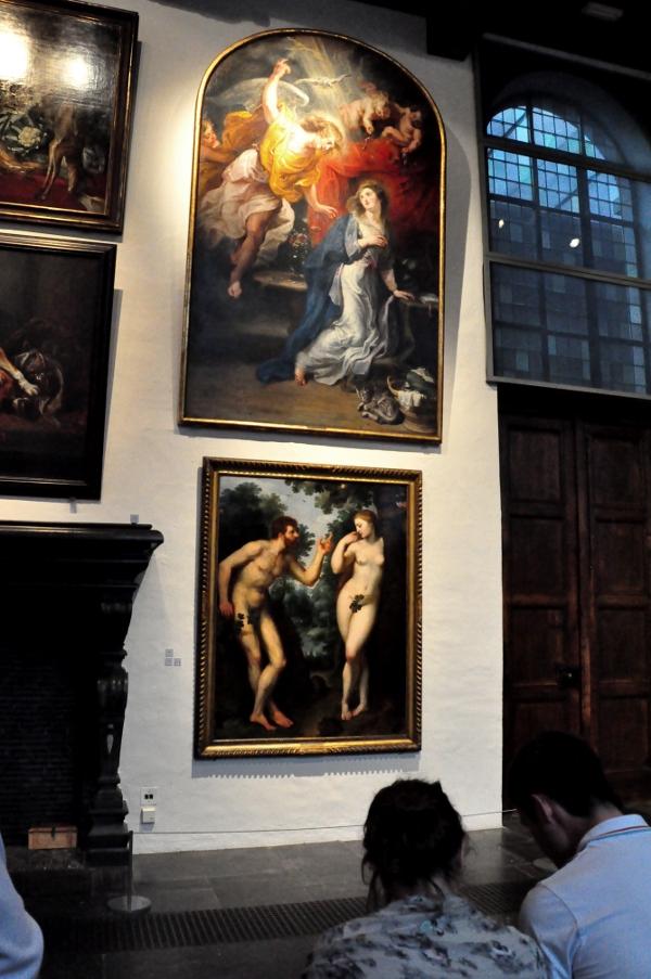 Rubenshuis - Obrazy Adam i Ewa oraz Zwiastowanie Maryi