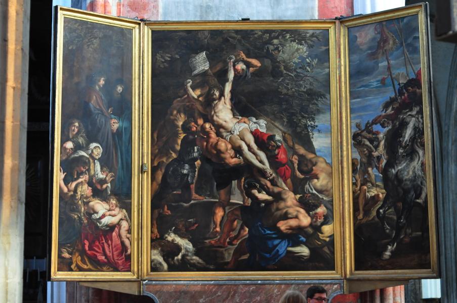 Podniesienie krzyża - Peter Paul Rubens - Katedra w Antwerpii