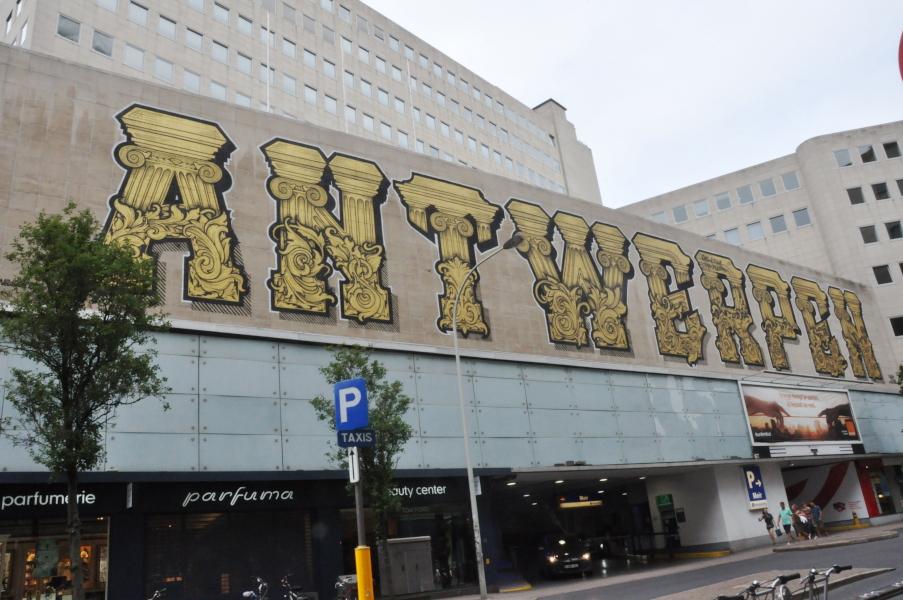 Mural w Antwerpen Centrum