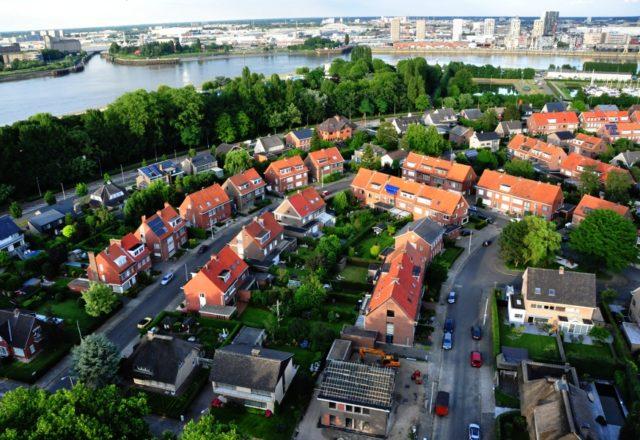 Panorama Antwerpii widziana z Linkeroever