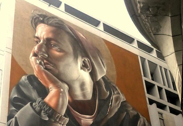 Sam Bates - mural w Antwerpii