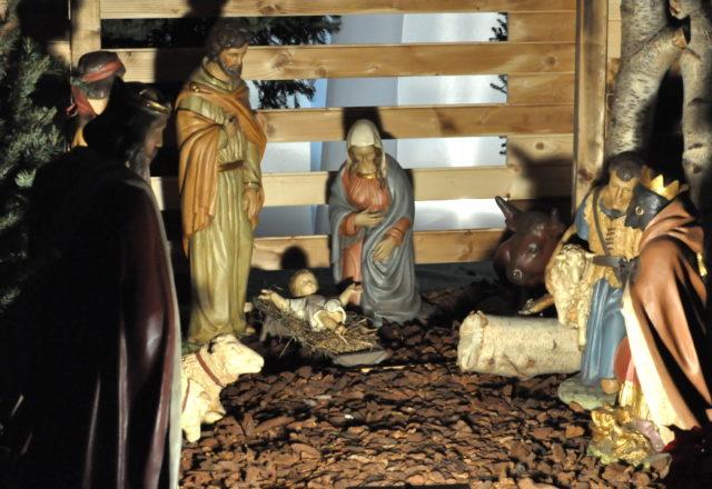 Szopka bożonarodzeniowa w kościele św. Pawła w Antwerpii