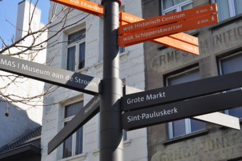 Antwerpia - drogowskaz turystyczny
